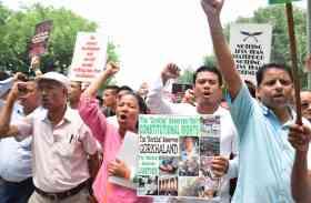 गोरखालैंड राज्य की मांग को लेकर जीजेएम ने संसद मार्च निकाला