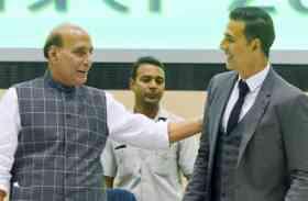 राजनाथ ने भारतीय जवानों के समर्थन के लिए अक्षय की प्रशंसा की