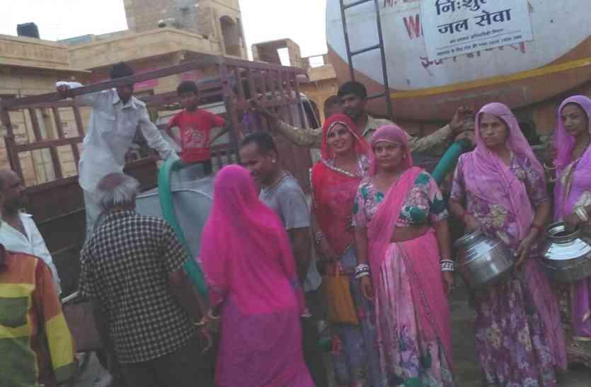 Jaisalmer video- जैसलमेर में पानी की पुरानी 'रामकहानी', आठ दिनों से कई मोहल्लों में आपूर्ति नहीं
