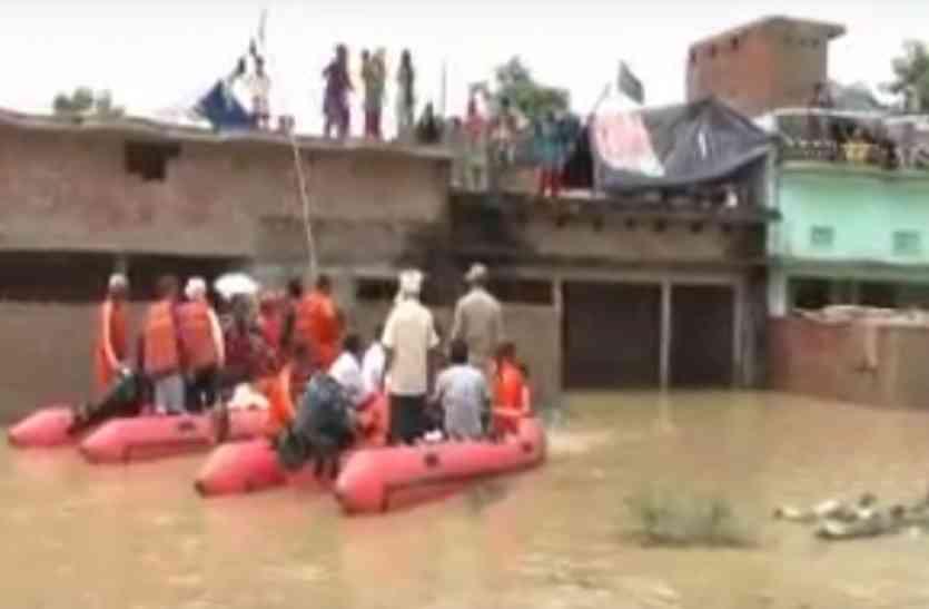 जिले में बाढ़ से प्रभावित गांवों का सीएम योगी ने किया हवाई सर्वेक्षण, अधिकारियों के कंसे पेच