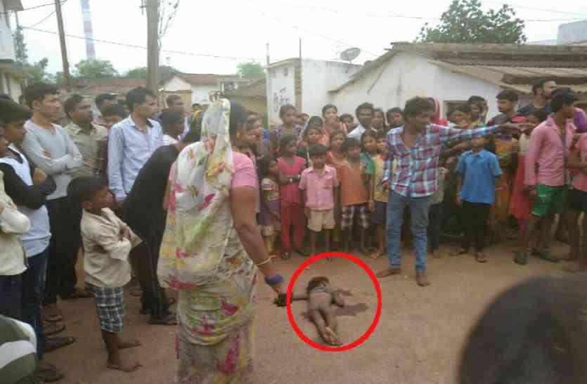 दर्दनाक: चिकन रोस्ट नहीं बनाया तो बेटे को पटककर मारा और फेंक दिया सड़क पर