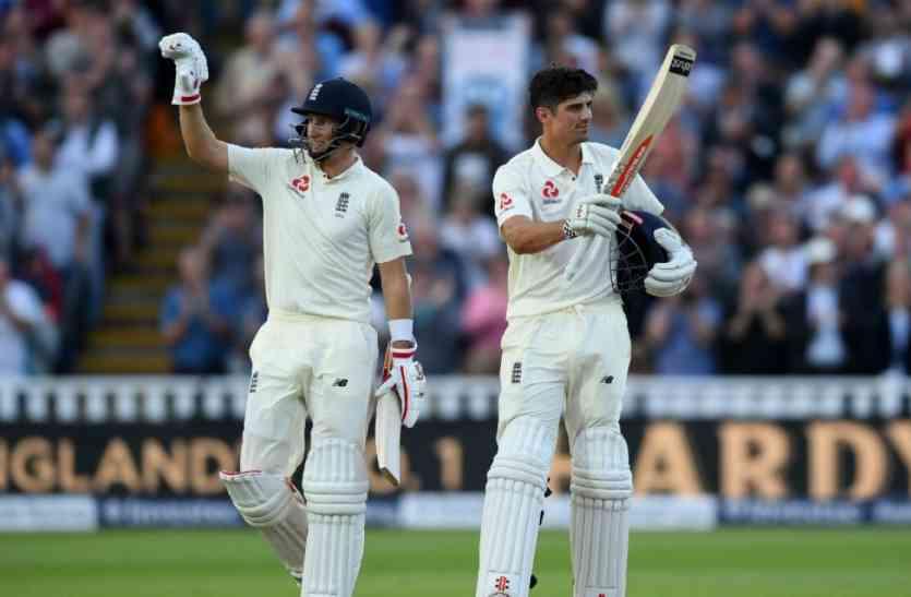 बर्मिघम टेस्ट में कुक, रुट की शतकीय पारी से इंग्लैंड की स्थिति मजबूत