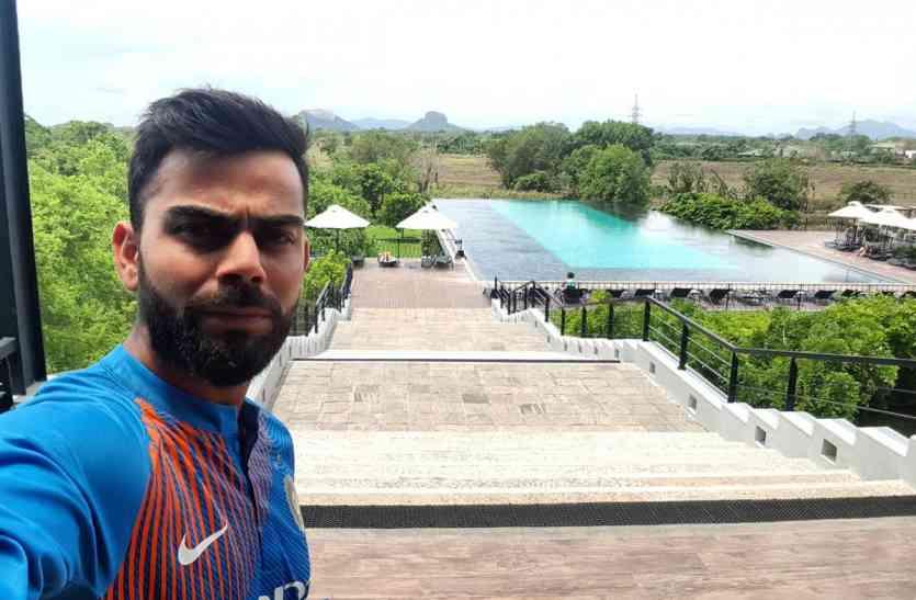 टीम इंडिया पहुंची दांबुला, वनडे सीरीज से पहले विराट ने की मस्ती