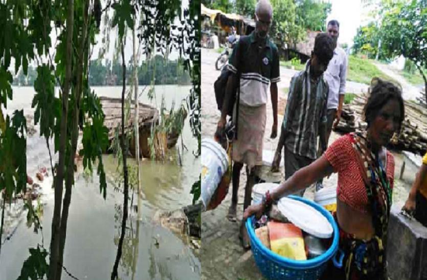 आजमगढ़ में टूटा दाम महुला रिंग बांध, 500 से अधिक घर पानी में डूबे