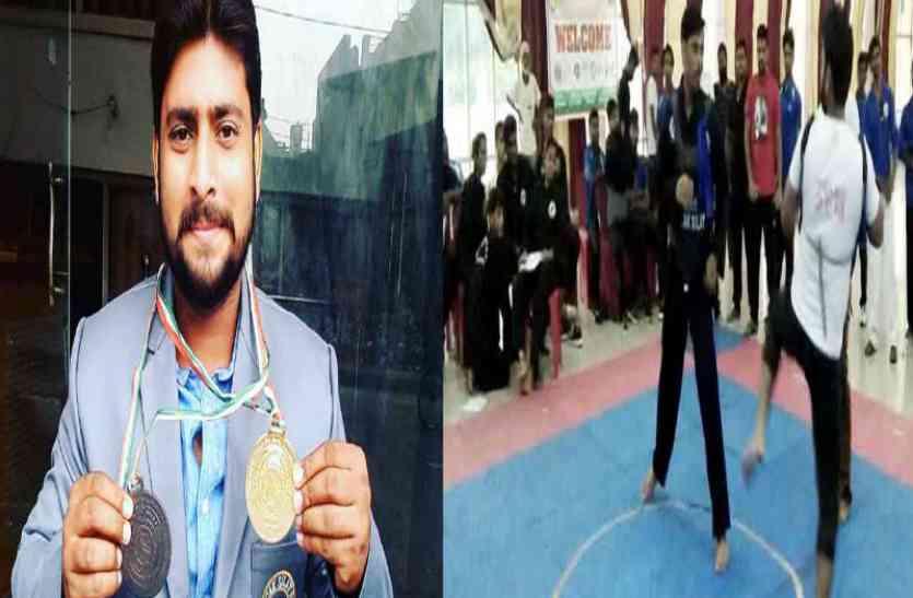 आजमगढ़ के सूरज ने राष्ट्रीय पेंसिक सिलाट चैंपियनशिप में जीता स्वर्ण व कांस्य पदक