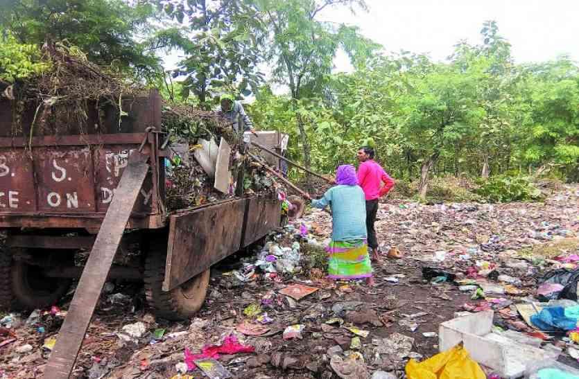 जहां ट्रेंचिंग ग्राउंड की मंजूरी नहीं, बीएसपी वहीं डंप कर रहा पूरे शहर का कचरा