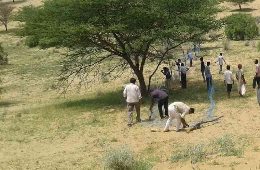 Jaislamer news video- जैसलमेर के इन गांवों से  सरकारी भूमि पर अवैध काश्त कर किए गए अतिक्रमणों को हटाया
