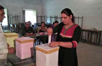 अलीगढ़ में आज हो रहा बैलेट पेपर से मतदान, 72 प्रत्याशियों के भाग्य का फैसला करेंगे मतदाता