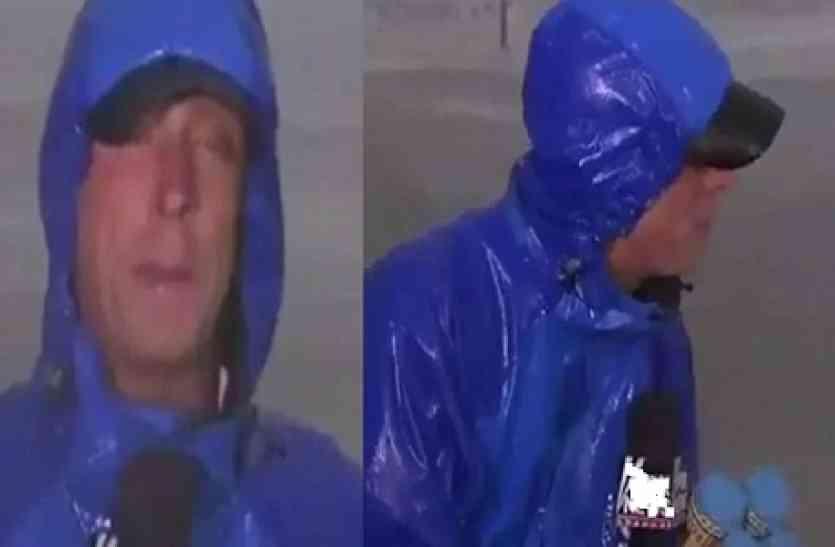 मुसलाधार बारिश में लाइव रिपोर्टिंग कर रहा था रिपोर्टर, तभी एक महिला ने आकर कर दिया वो काम जिसकी उसे उम्मीद भी नहीं थी!