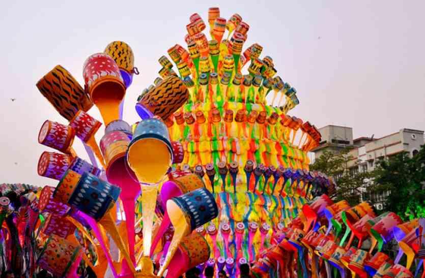 Video: 90 फीट चौड़े और 60 फीट ऊंचे भव्य रंग महल में विराजेंगी मां दुर्गा