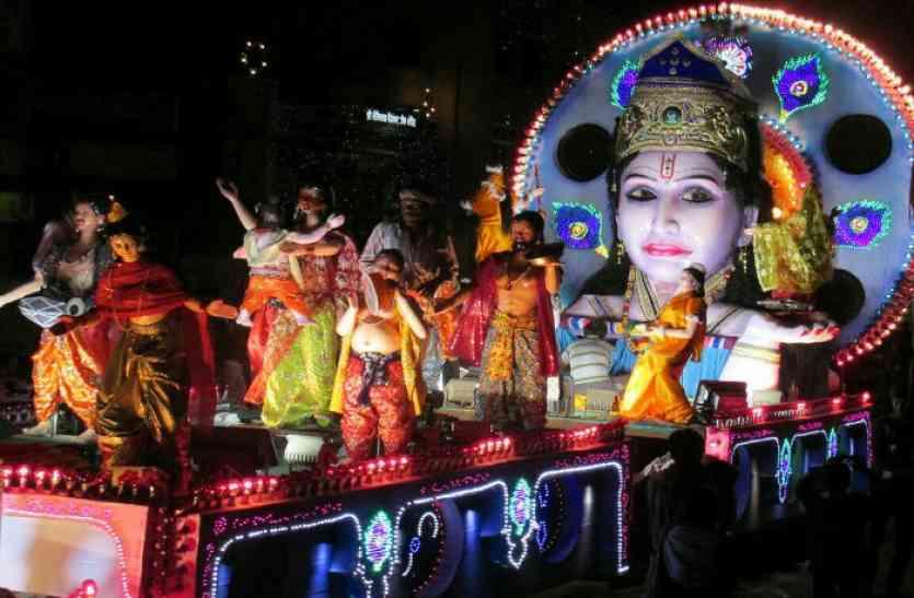 श्रीकृष्ण की लीलाएं देख मोहित हुई संस्कारधानी, झांकियों में झलकी भारतीय परंपरा