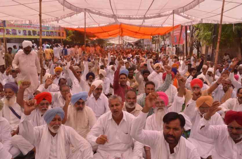 Video : श्रीगंगानगर में प्रशासन ठप, किसान सड़कों पर