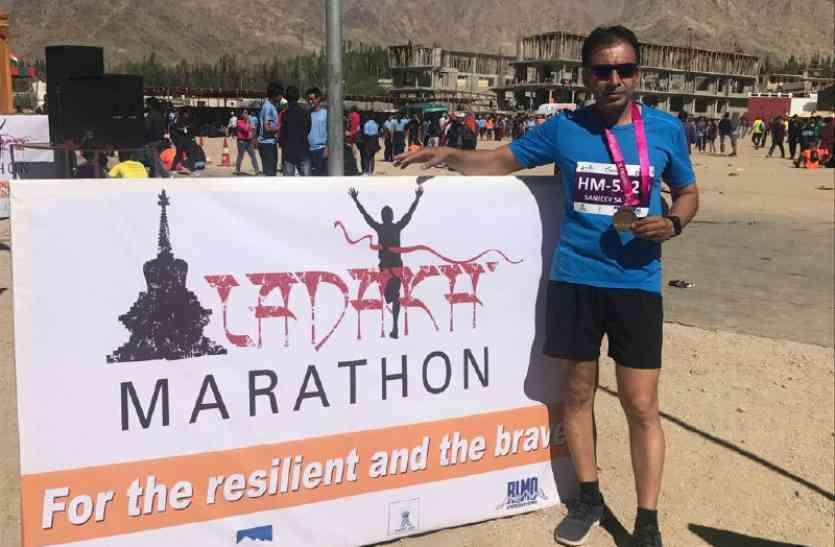 जहां सांस लेना भी मुश्किल, वहां पौने चार घंटे में 21 किमी की दौड़