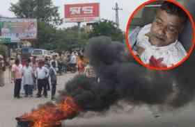 कांग्रेस नेता की हत्या के बाद भरतपुर में बवाल, देखें तस्वीरें