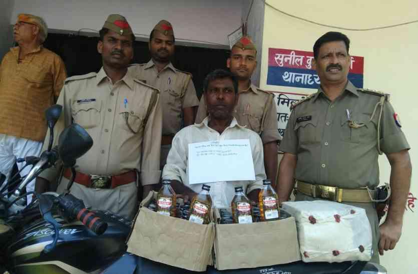मादक पदार्थ तस्कर गिरफ्तार, आजमगढ़ शराब कांड से जुड़ा तार
