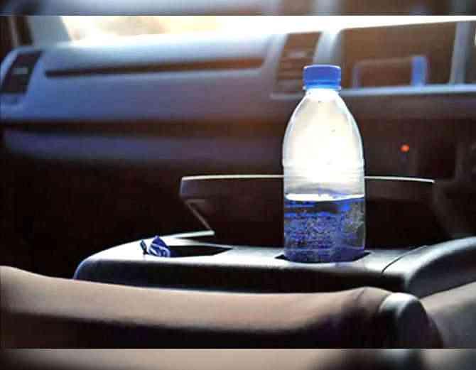 never leave plastic bottles
