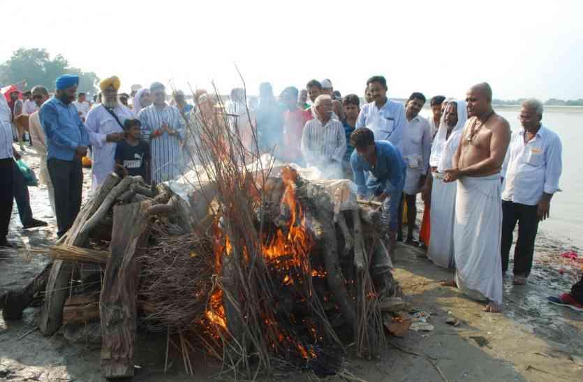 पंचतत्व में विलीन हुए राम जन्म भूमि के मुख्य पक्षकार दिवंगत महंत भास्कर दास