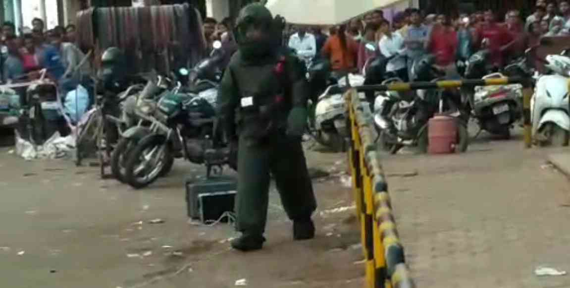 bomb in suitcase, live bomb found in suitcase at maharajbada, bomb disposal squad, bds team