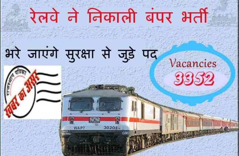 पत्रिका इम्पेक्टः- खबर का हुआ असर, सुरक्षा से जुड़े खाली पदों पर रेलवे ने शुरू की भर्ती
