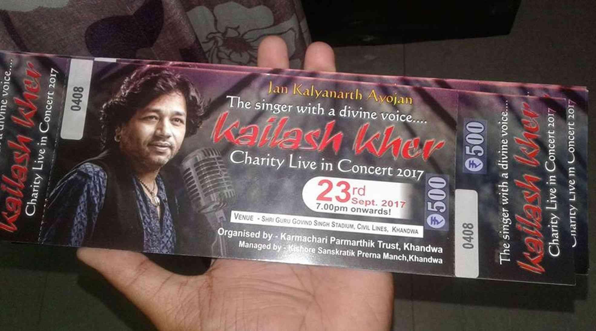 kailash kher live concert Ticket
