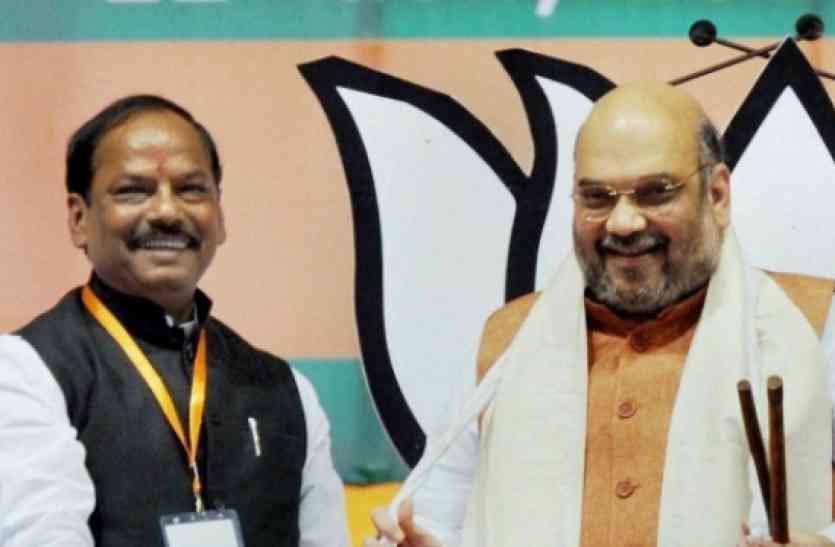 झारखंड में नेतृत्व परिवर्तन की अटकलों पर विराम, रघुवर सरकार के कार्यों की शाह ने की तारीफ