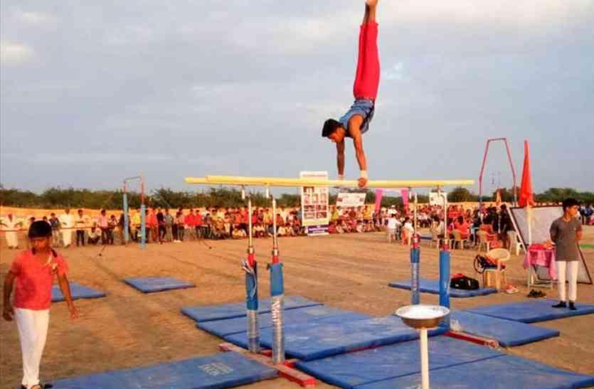 जालोर के बाकरा गांव में राज्य स्तरीय जिम्नास्टिक प्रतियोगिता शुरू