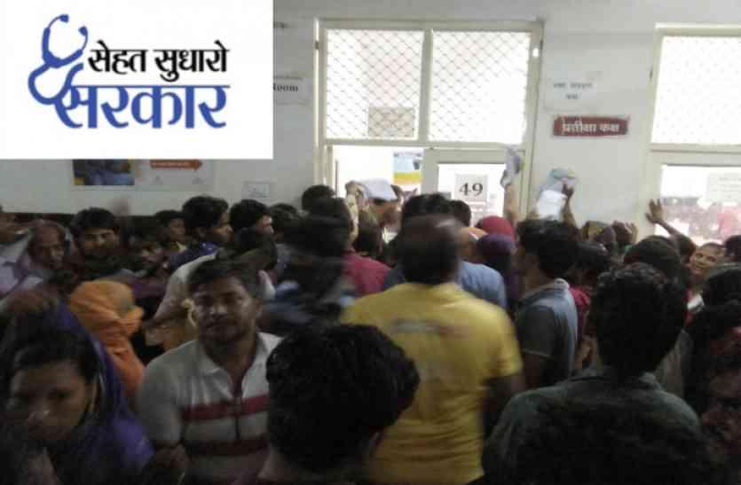#sehatsudharosarkar: यहां मिलती है बिना तारीख की पर्ची, विरोध करने पर हो जाती है हड़ताल