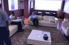 PHOTOS: धोनी के साथ इंडिया सीमेंट के दफ्तर में नजर आए श्रीनिवासन