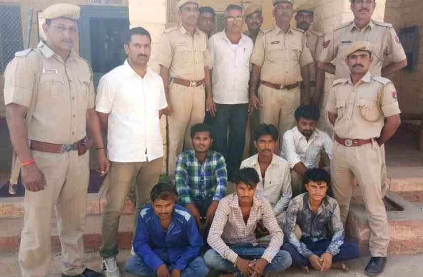 Crime news Jaisalmer- बंद मकान, बाइक व बकरा चोरी के मामले में छह गिरफ्तार
