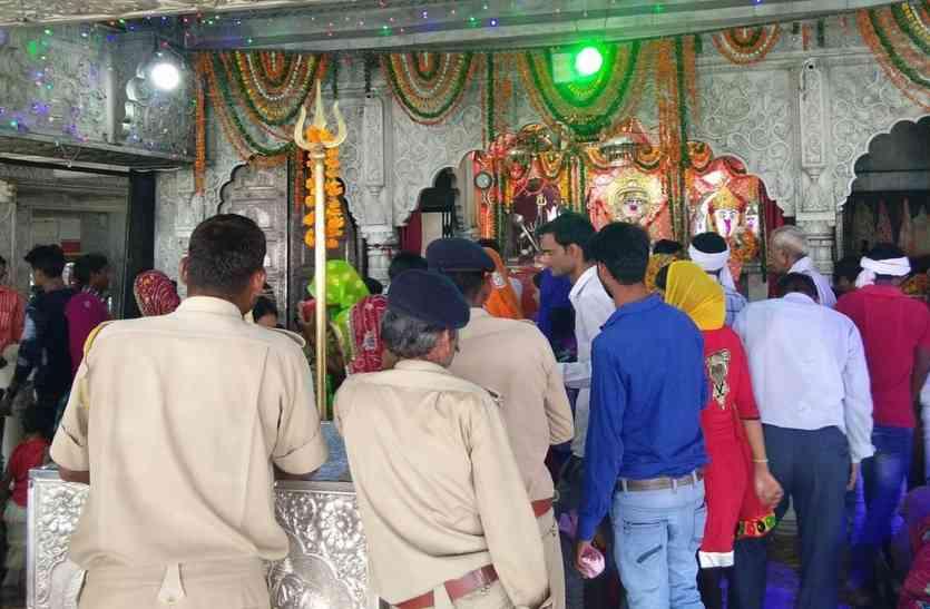 चौथ माता मंदिर परिसर में बढ़ाई सुरक्षा व्यवस्था, अतिरिक्त जाब्ता लगाया...