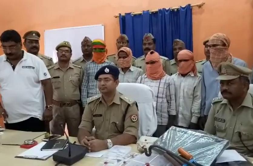 बनारस का टाॅप टेन अपराधी हरगेन व उसके पांच साथी जौनपुर में गिरफ्तार
