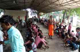 धूमधाम से मनाई गई नवमी, कन्याओं की हुआ पूजन, देखें फोटो