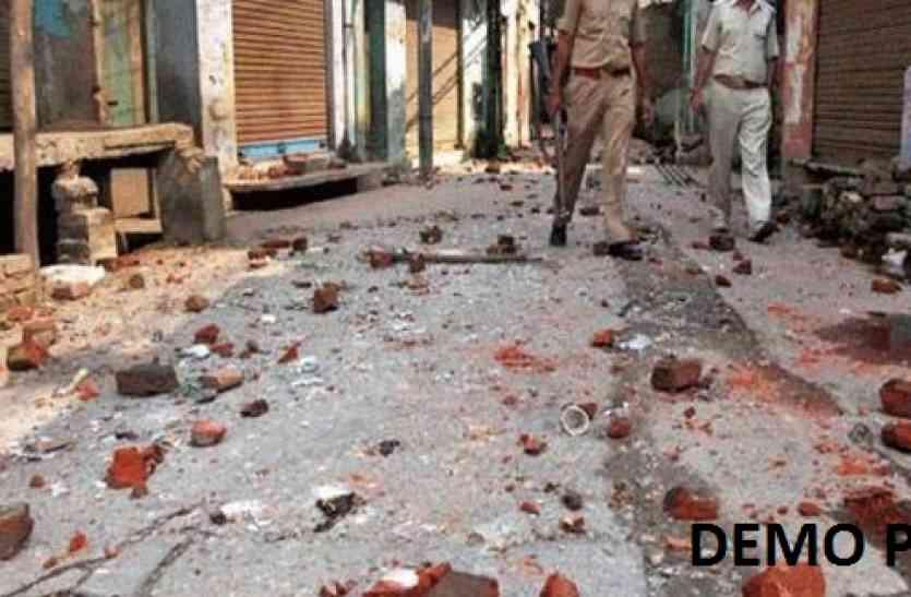 आजमगढ़ में ताजिया जुलूस के दौरान जमकर हुआ पथराव, चार घायल