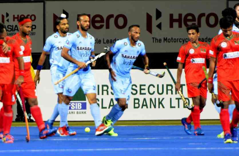 हीरो एशिया कप में भारत ने बांग्लादेश को 7-0 सर रौंदा