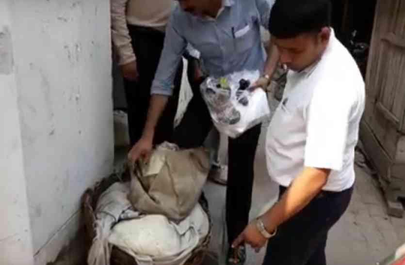 खोया मंडी में खाद्य विभाग का छापा, चार क्विंटल नकली मावा पकड़ा