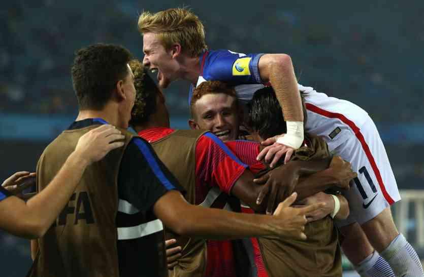 फीफा U 17 वर्ल्ड कप: अमरीका और जर्मनी की टीम क्वार्टर फाइनल में पहुंची