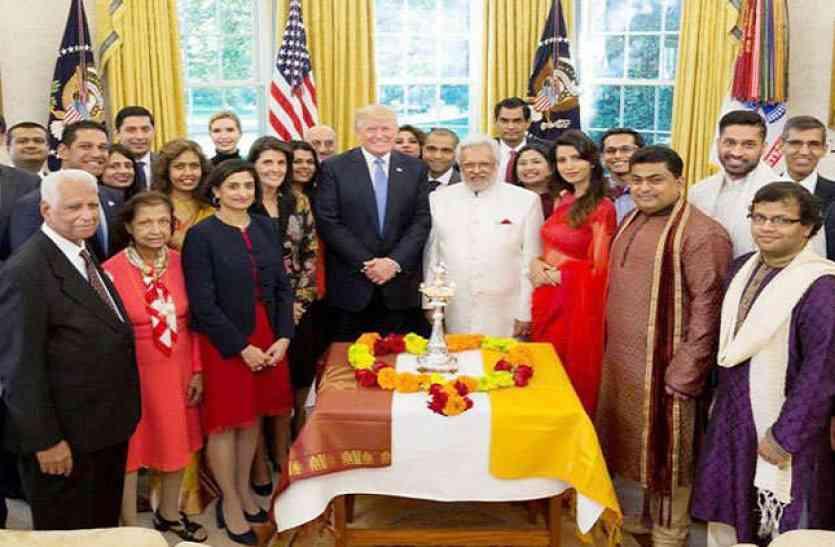 Image result for ट्रम्प ने वाइट हाउस में मनाई दिवाली