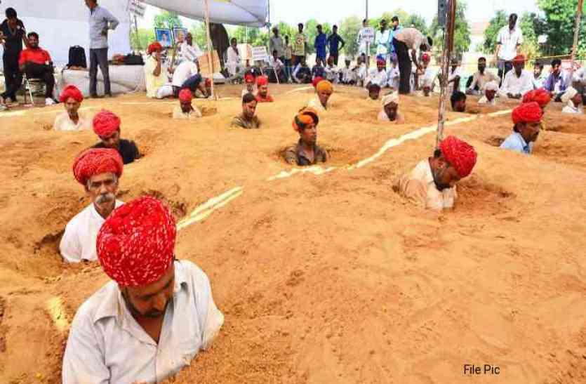 नींदड़ सत्याग्रह: उपवास के दौरान किसान की तबीयत बिगड़ी, कहा- जबरन कार्यवाई पर मरने के लिए हैं तैयार