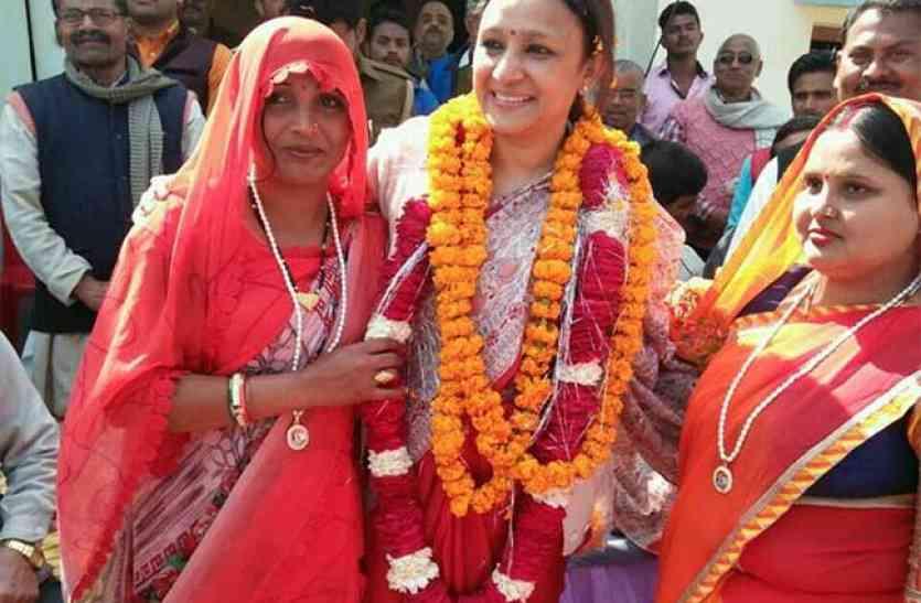 कांग्रेस विधायक अराधना मिश्रा ने कहा, भाजपा ने कांग्रेस का नारा चुराया