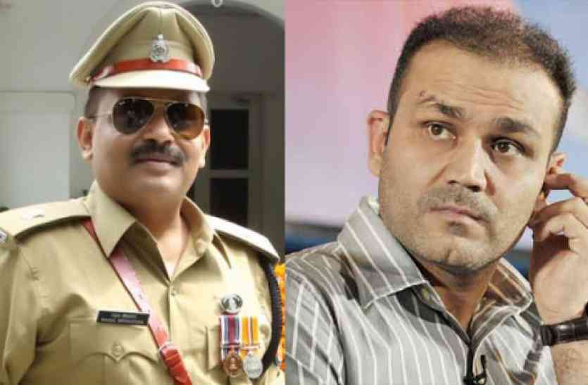 Image result for sehwag up police