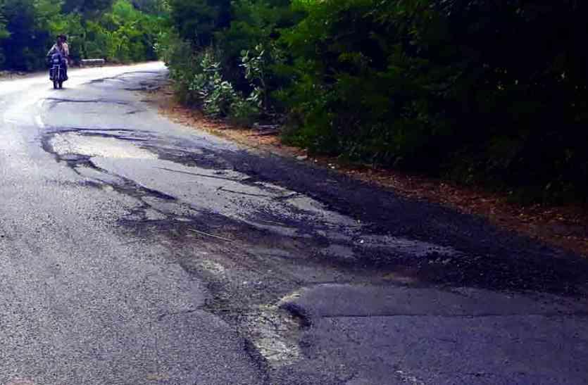 NEGLIGENCE : हल्दीघाटी से नाथद्वारा तक के 17 किलोमीटर के सफर में कदम कदम पर खड्ढे, हादसे की आशंका
