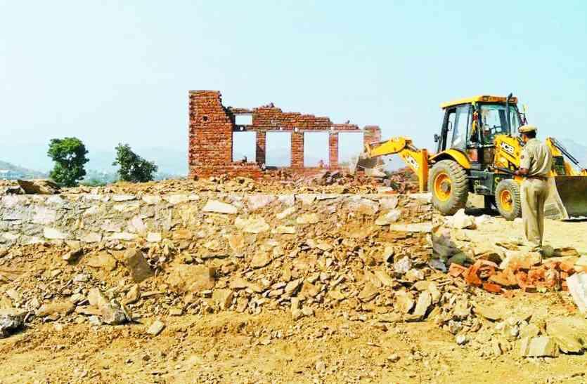 उदयपुर: दक्षिण विस्तार में बड़ी कार्रवाई, यूआईटी ने करोड़ों की जमीन से हटाया कब्जा