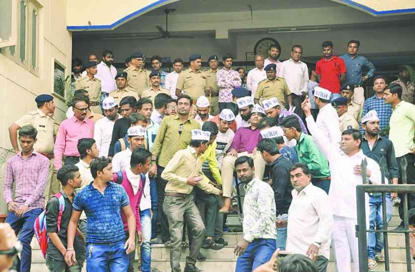 भाजपा पर पास कार्यकर्ता की पिटाई का आरोप