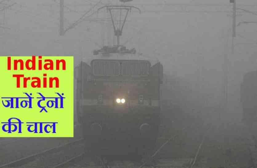 कोहरे की चपेट में ट्रेन, घर से निकलने से पहले जान लें स्थिति