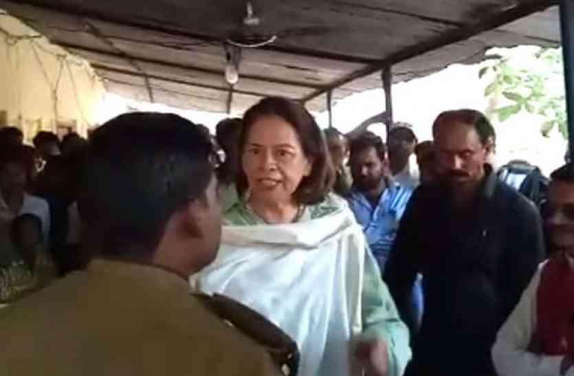 बीजेपी की महारानी का वीडियो वायरल, पुलिस चौकी में किया ड्रामा, कहा- हमारी सरकार है..फेंकवा देंगे यूपी से बाहर