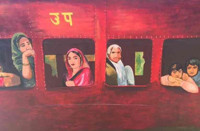 देखनी है दीवार पर TRAIN तो आएं अजमेर, पसंद आएगा रेलवे का ये नायाब तरीका