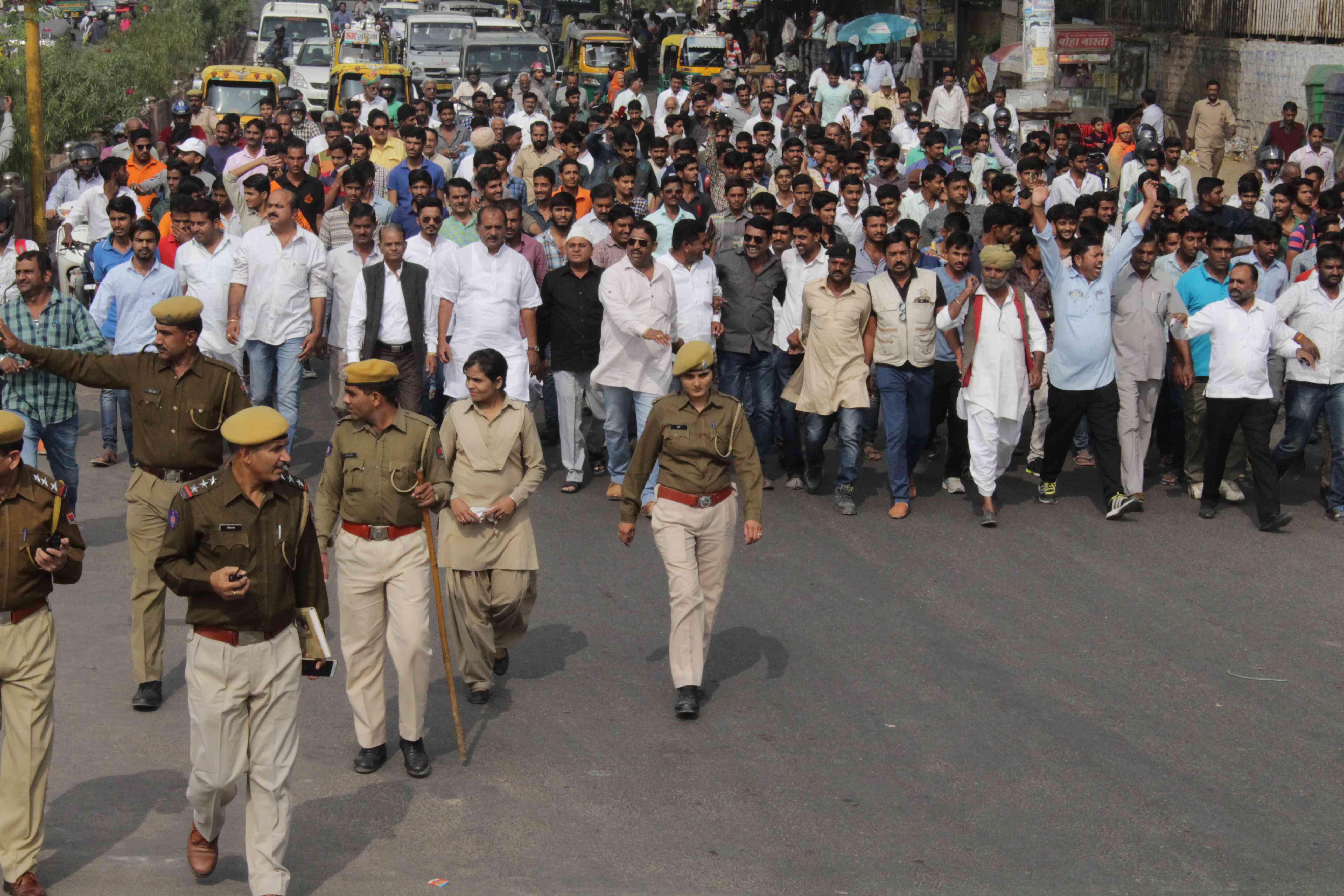 protest by Rajput community against film Padmavati in Jodhpur