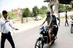 जयपुर—सीकर राष्ट्रीय राजमार्ग पर परिवहन विभाग ने काटे चालान, दूर से ही देखकर वापस लौटने लगे वाहन