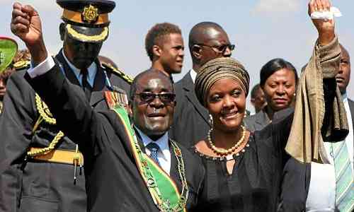 Grace Mugabe and  Robert Mugabe