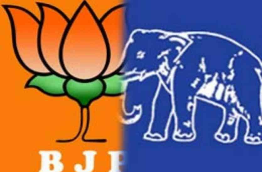 जौनपुर में बीजेपी का पत्ता साफ, पहले स्थान पर बसपा